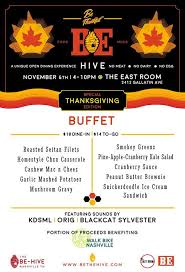 be hive thanksgiving buffet benefiting walk bike nashville at the