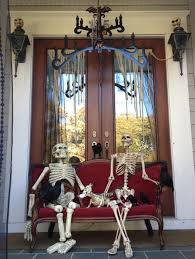 splendid front porch halloween decoration with flowers and glowing