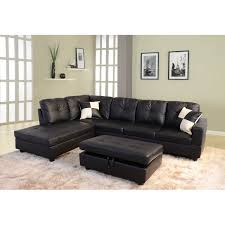 Black Sectional Sofas Starhomelivingcorp Sectional With Ottoman Reviews Wayfair