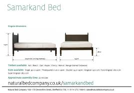 King Size Bed Uk Width Ex Display Bed Samarkand King Size Natural Bed Co
