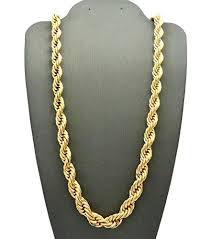golden rope necklace images Hip hop golden rope chain necklace online shopping in pakistan jpg
