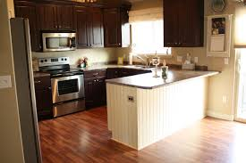 best paint color for kitchen with dark cabinets also beautiful