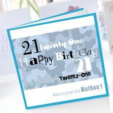 personalised boys 21st birthday card by amanda hancocks