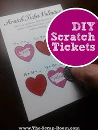 card diy scratch ticket tutorial and templates