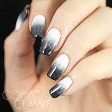 copycat claws matte stamped gradient nails