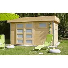 abris de jardin madeira abri de jardin comfy à toit plat bois non traité 10 50 m madeira
