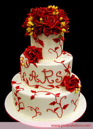 red rose u0026 leaves wedding cake wedding cakes