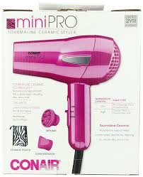 amazon com conair minipro tourmaline ceramic styler hair dryer