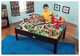 kidkraft train table set kidkraft airport express espresso table and set train sets amazon