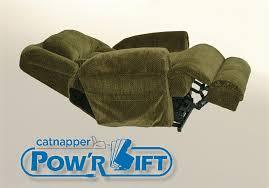 burns power lift full lay flat dual motor recliner in basil fabric