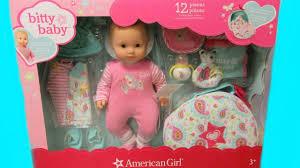 american bitty baby doll set costco unboxing changing video