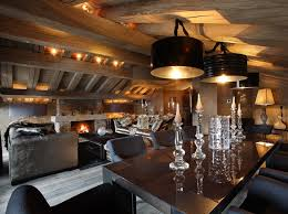 chalet style ski chalet in with kreon lighting woodlands