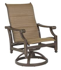 pride family brands grand regent swivel patio dining chair with