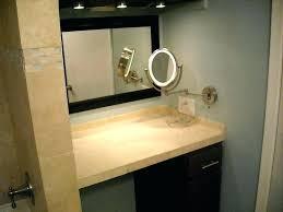 Mirror Wall In Bathroom Wall Mounted Lighted Magnifying Bathroom Mirror Styledbyjames Co