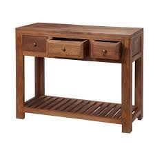 light wood console table alwar mango light solid wood console table with drawers