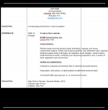 sample resume for general labour doc 612792 sample general labor