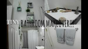 diy small bathroom makeover tour affordable youtube
