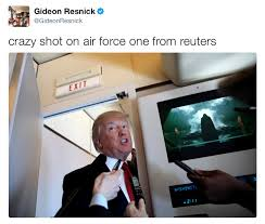 Air Force One Meme - crazy shot on air force one from reuters donald trump s rogue one