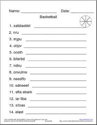 best solutions of basketball worksheets for middle for
