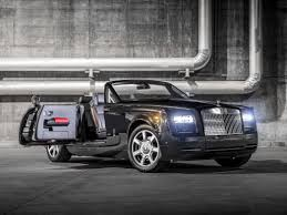 roll royce grey rolls royce phantom drophead coupe nighthawk at the super bowl