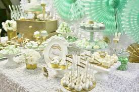 mint wedding decorations kara s party ideas mint and gold party planning ideas supplies