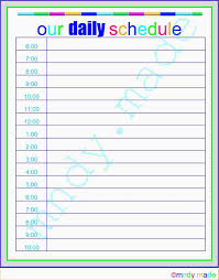 printable daily schedule 4 free printable daily schedule ganttchart template