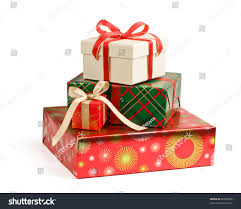 pile colorful christmas gifts isolated on stock photo 60669856
