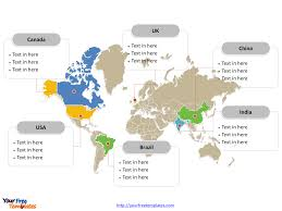 Labeled World Map by Free World Editable Map Free Powerpoint Templates