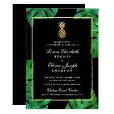 and black wedding invitations hawaiian wedding invitations announcements zazzle