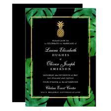and black wedding invitations hawaiian wedding invitations announcements zazzle