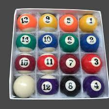 cheap billiards table balls sets 50mm 52 5mm 57 2mm resin
