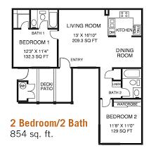 two bedroom two bath apartment floor plans 2 bed 2 bath house plans internetunblock us internetunblock us