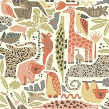 dwell studio baby and kids jungle puzzle wallpaper york