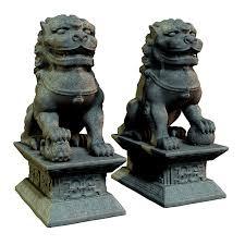 lion statues guardian lion statues 3d models the hankster