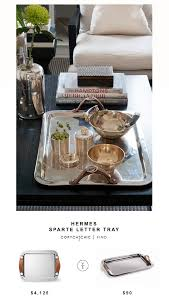 Silver Letters Home Decor by Hermes Sparte Letter Tray Copycatchic