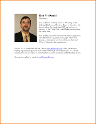 Resume Sample Biography Template by Resume Bio Sample Free Resume Example And Writing Download