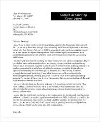 cover letter accountant accounting finance cover letter samples