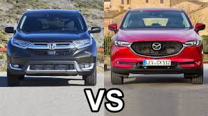 mazda big car 2017 honda cr v vs 2017 mazda cx 5 youtube