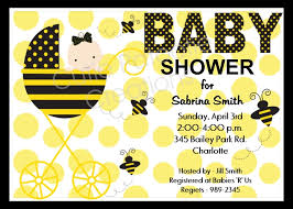 bumble bee baby shower theme bumble bee baby shower invitations