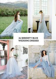 Blue Wedding Dress 26 Serenity Blue Wedding Dresses That Inspire Crazyforus