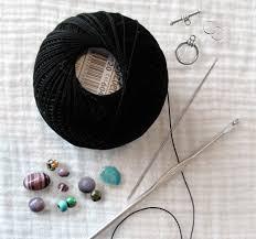 crochet beads necklace pattern images Just jen crochet beaded necklace tutorial