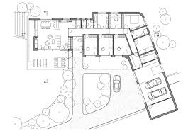 l shaped house floor plans l shaped modern house design on hillside with layout
