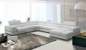 bonded leather sectional sofa vig furniture divani casa pella modern white bonded leather