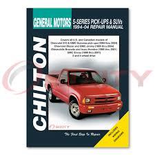 chevy s10 chilton reparación manual base ss ls zr2 xtreme zr5