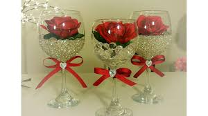 Rose Home Decor by Diy Dollar Tree Wine And Rose Glass Decor Hand Creations