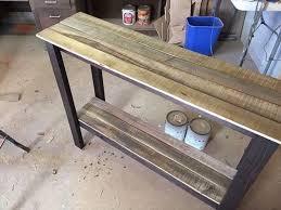 Diy Sofa Table Modern Style Diy Sofa Table With Diy Entryway Table Diy Reclaimed Pallet Entryway Table Foyer Table 6 Jpg