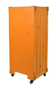 schrank design ideen kommode schrank roll container shabby orange gelb industrie