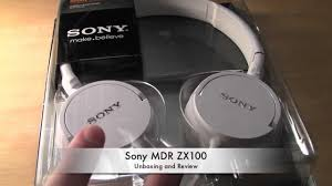 sony home theater headphones sony mdr zx100 series heaphones white unboxing youtube
