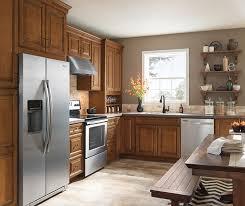 Kitchen Glazed Cabinets Warm Brown Glazed Kitchen Cabinets Aristokraft Cabinetry