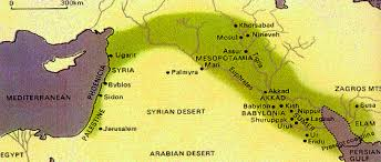 Ancient Mesopotamia Map Course History Geography 6 Gillett 2012 2013